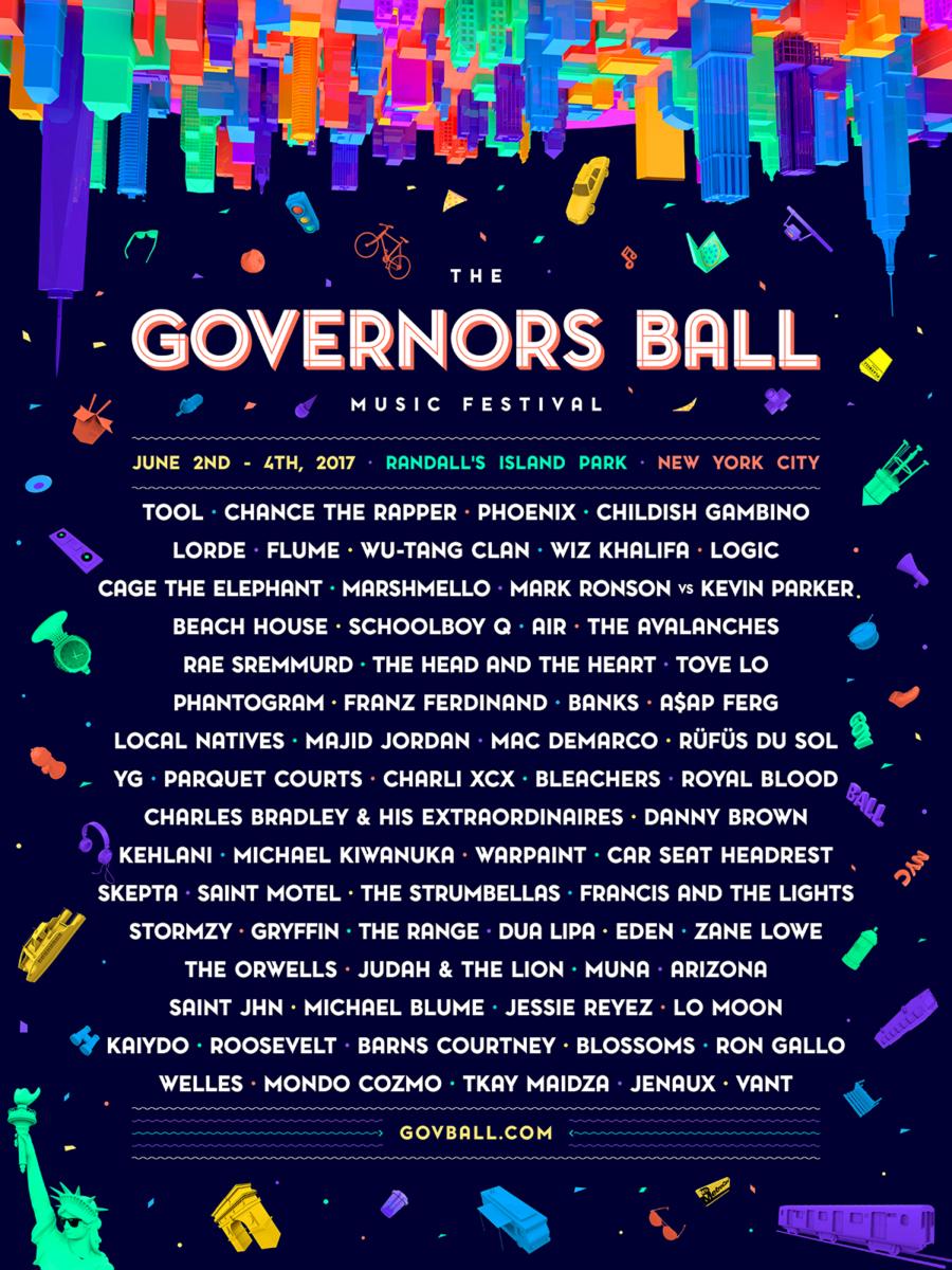 governors ball lineup 2017