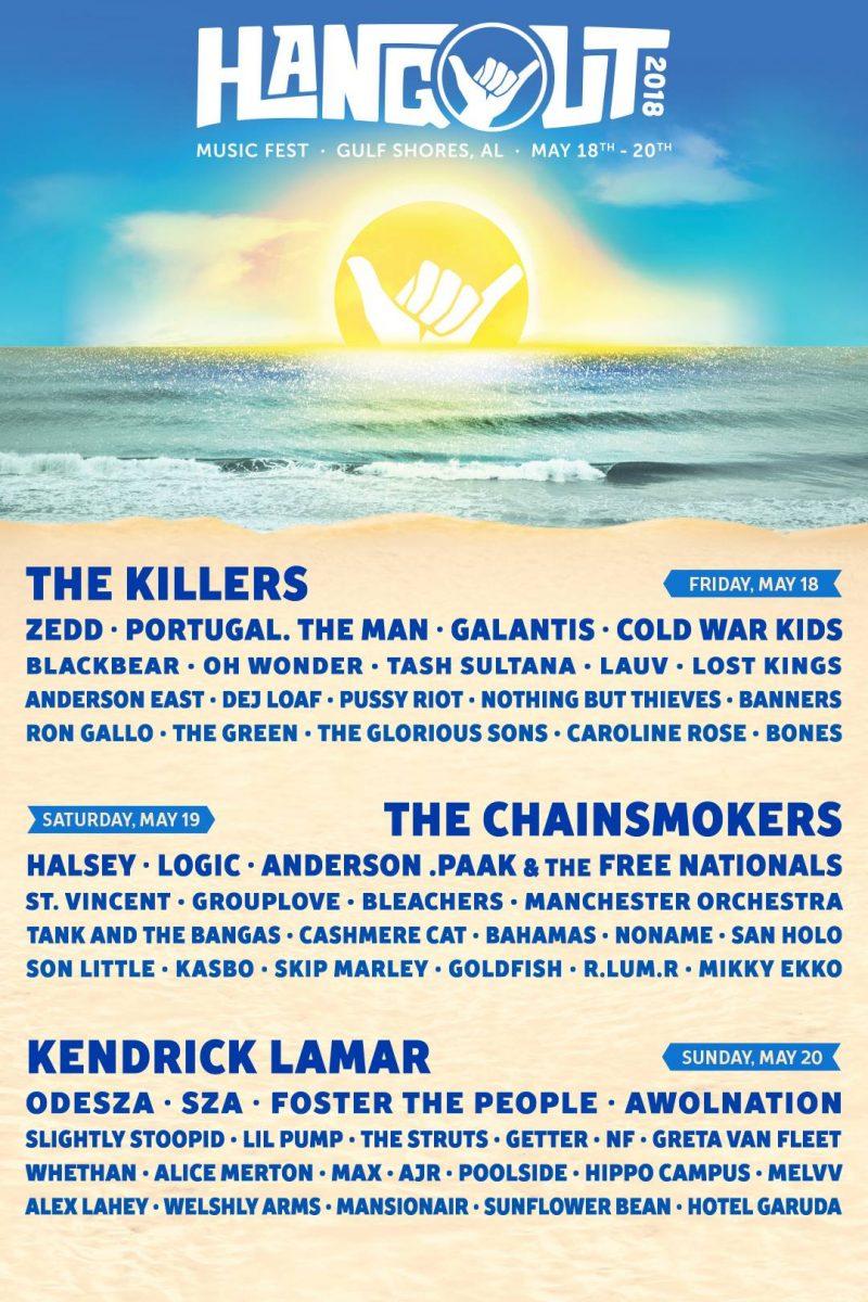Hangout Music Fest 2018 Lineup