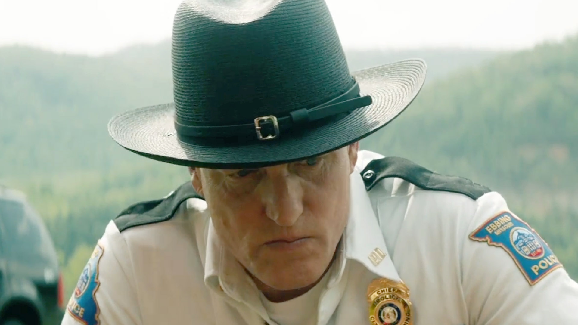 The trailer for 'Three Billboards Outside Ebbing, Missouri' is bleakly humorous