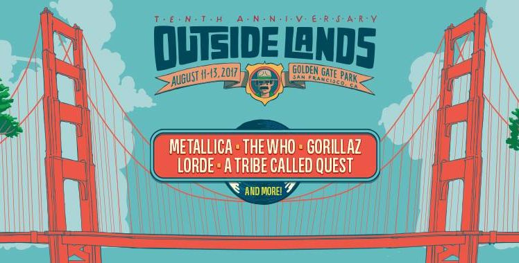 Metallica, Gorillaz, Lorde, and more to headline Outside Lands' 10th anniversary