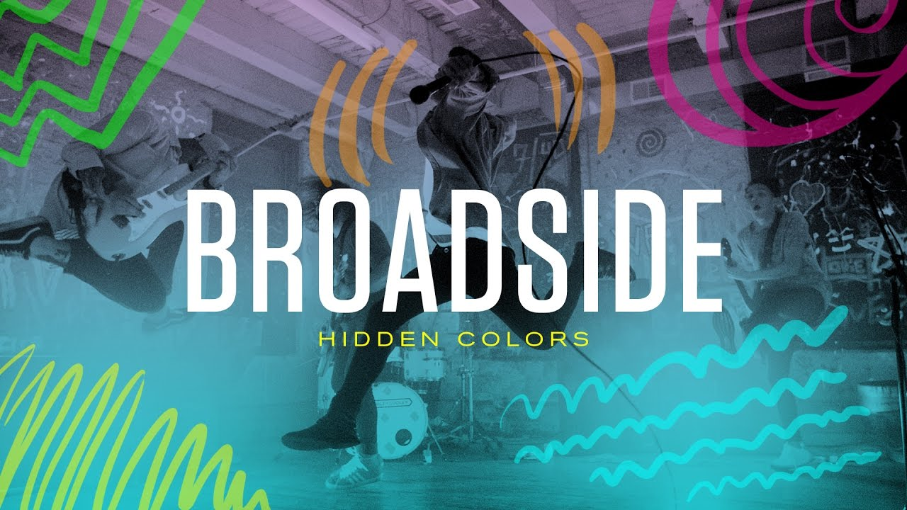 """Broadside release paint-soaked video for """"Hidden Colors"""""""