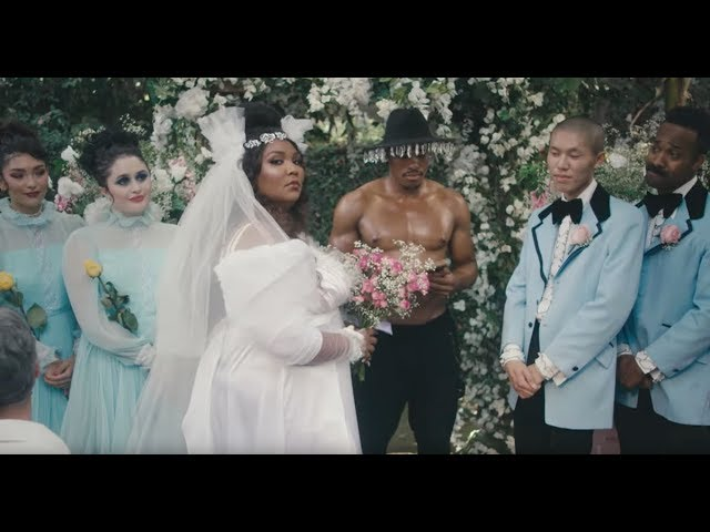 "Lizzo crashes her own wedding in the video for ""Truth Hurts"""