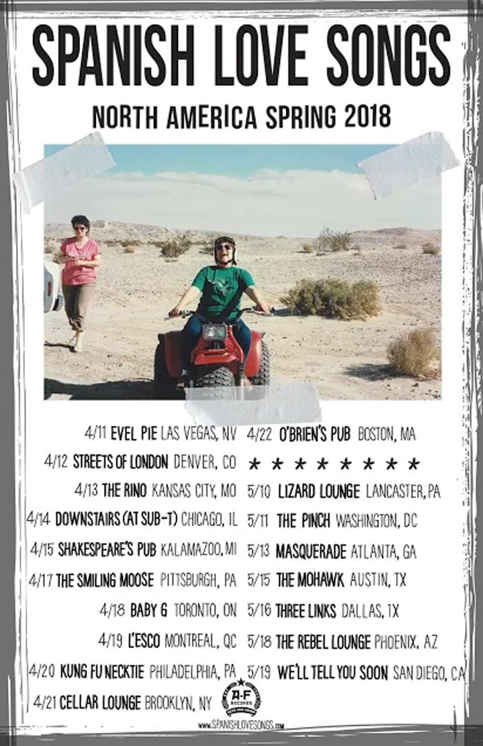 Spanish Love Songs tour admat