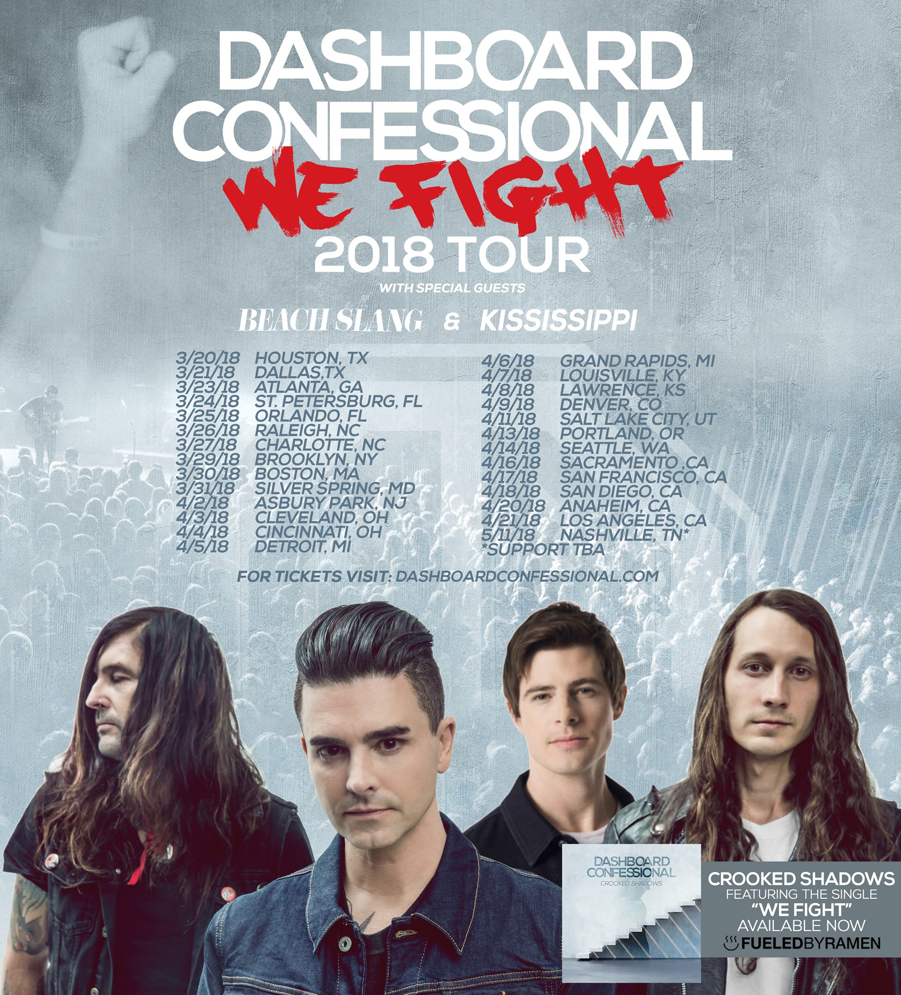 Kississippi - Dashboard Confessional We Fight Tour