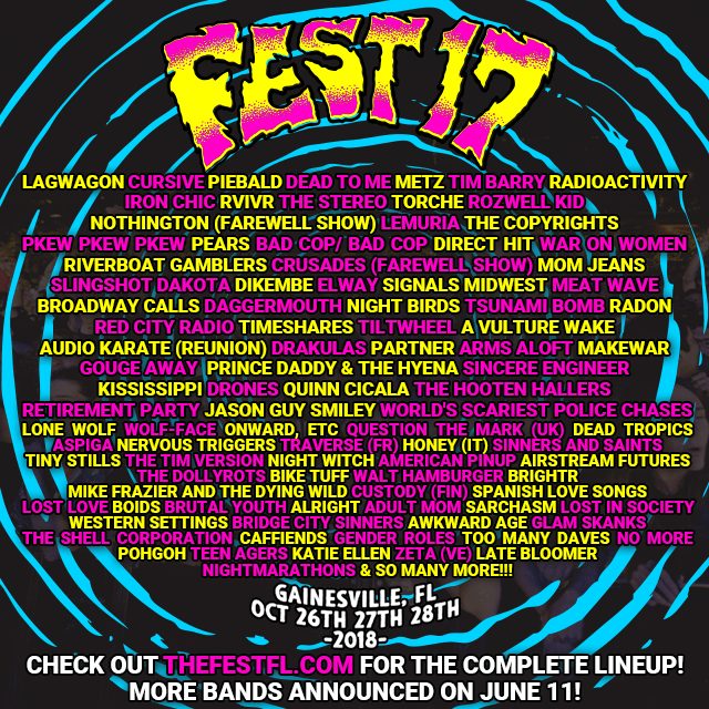 The Fest 17 addsThe Menzingers,Harmony Woods, Weller, and more to their lineup