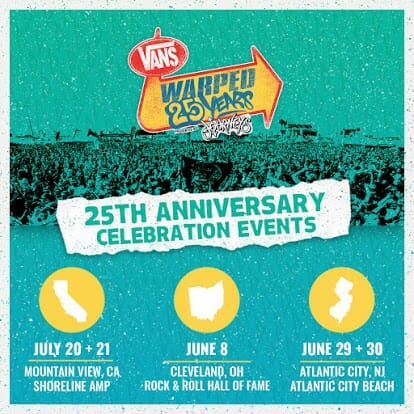 Warped Tour announces details regarding 25th anniversary celebration