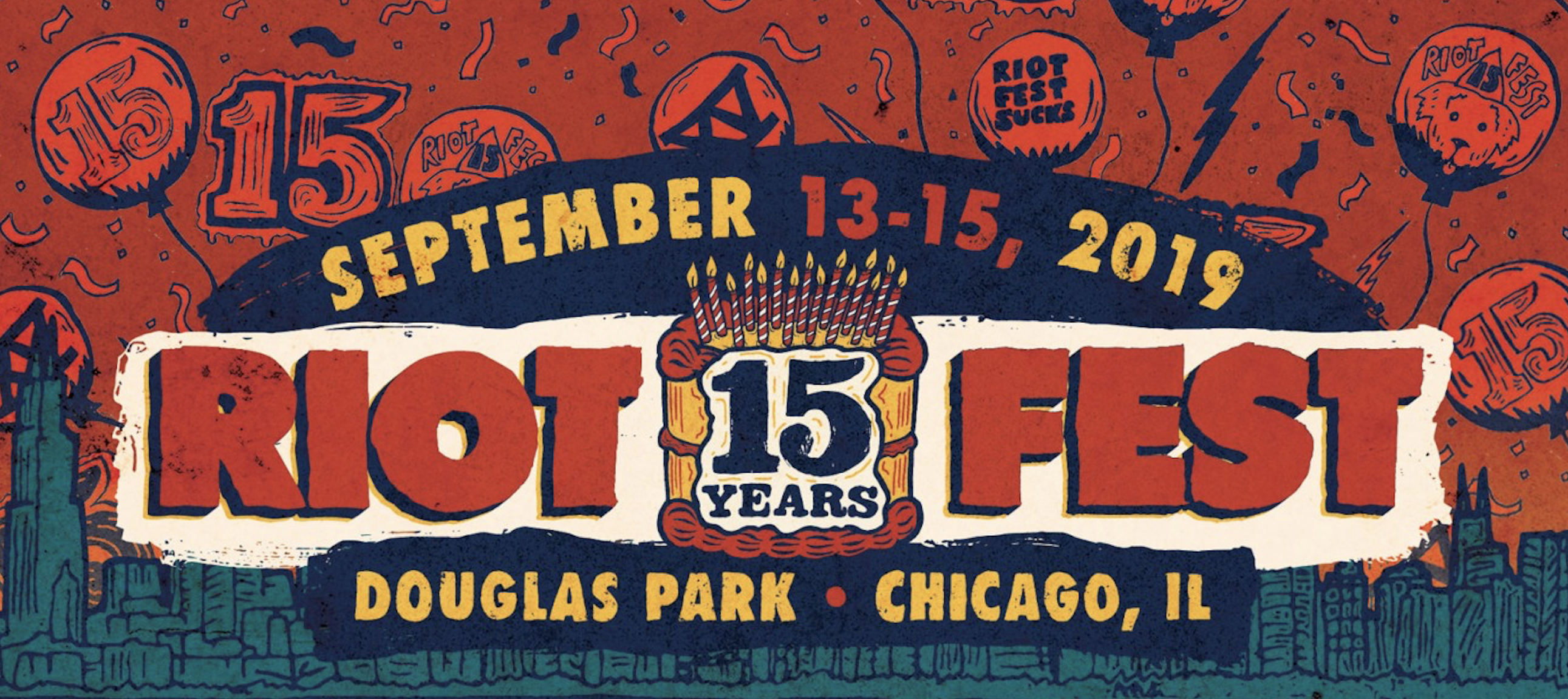 Riot Fest announces lineup for its 15th anniversary