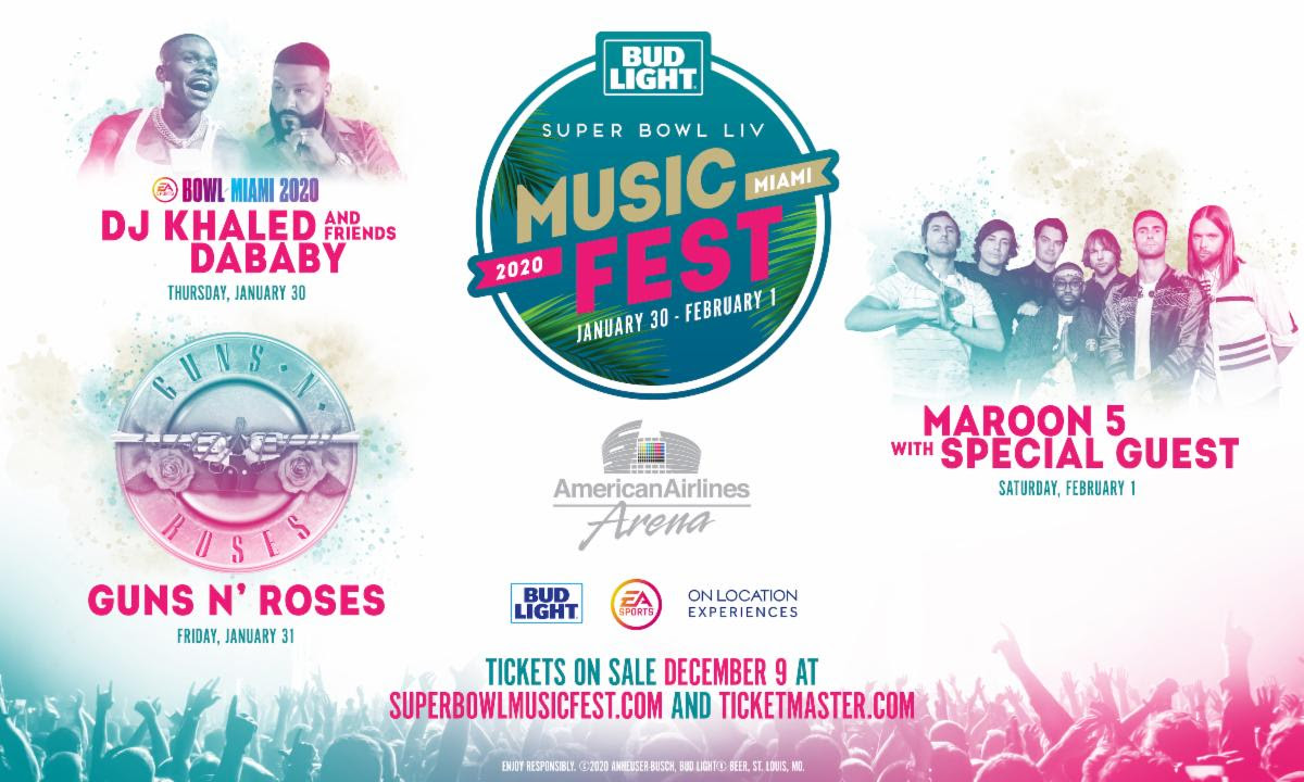 Guns N' Roses, Maroon 5, more announced for Bud Light's Super Bowl Music Fest