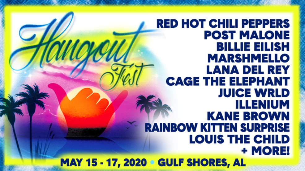 Hangout Fest announces 2020 lineup: Red Hot Chili Peppers, Billie Eilish, Lana Del Rey, Post Malone, and more