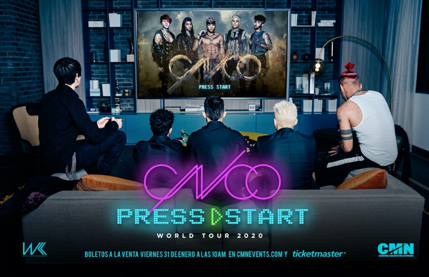 "CNCO announce first leg of 2020 ""Press Start"" tour"